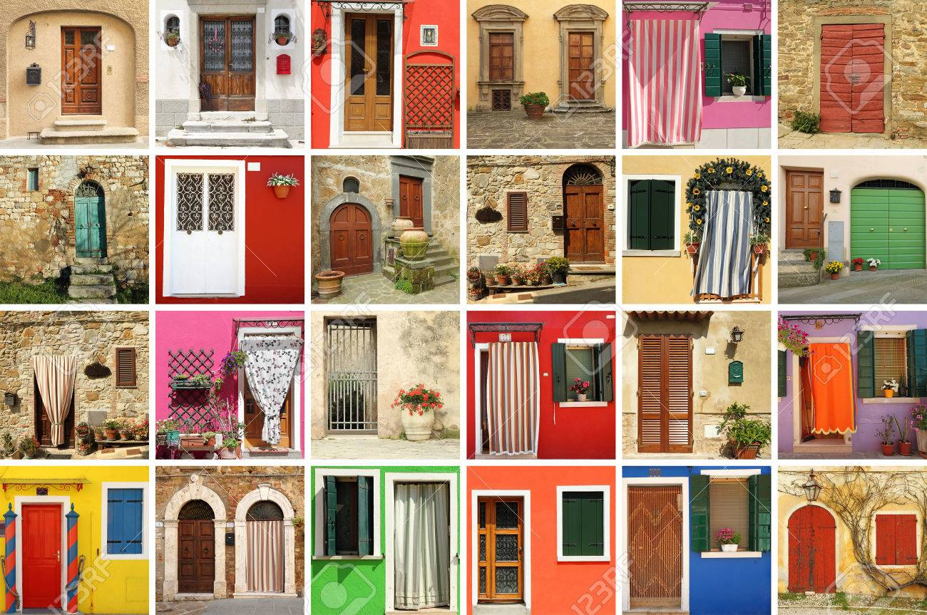 colorful old doors wallpaper Italy Stock Photo - 38379348 & Colorful Old Doors Wallpaper Italy Stock Photo Picture And Royalty ...
