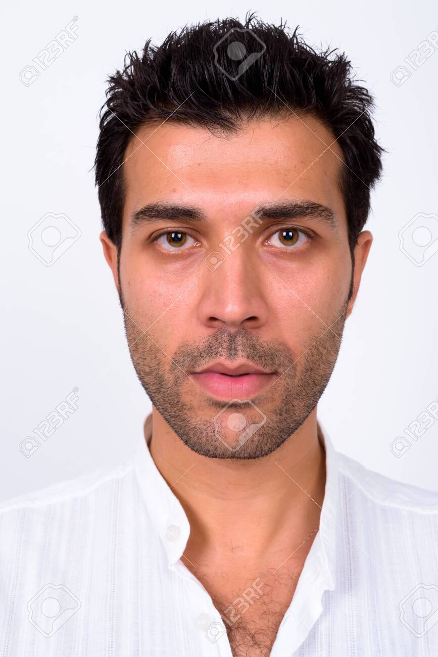Face of handsome Turkish man looking at camera - 144571787