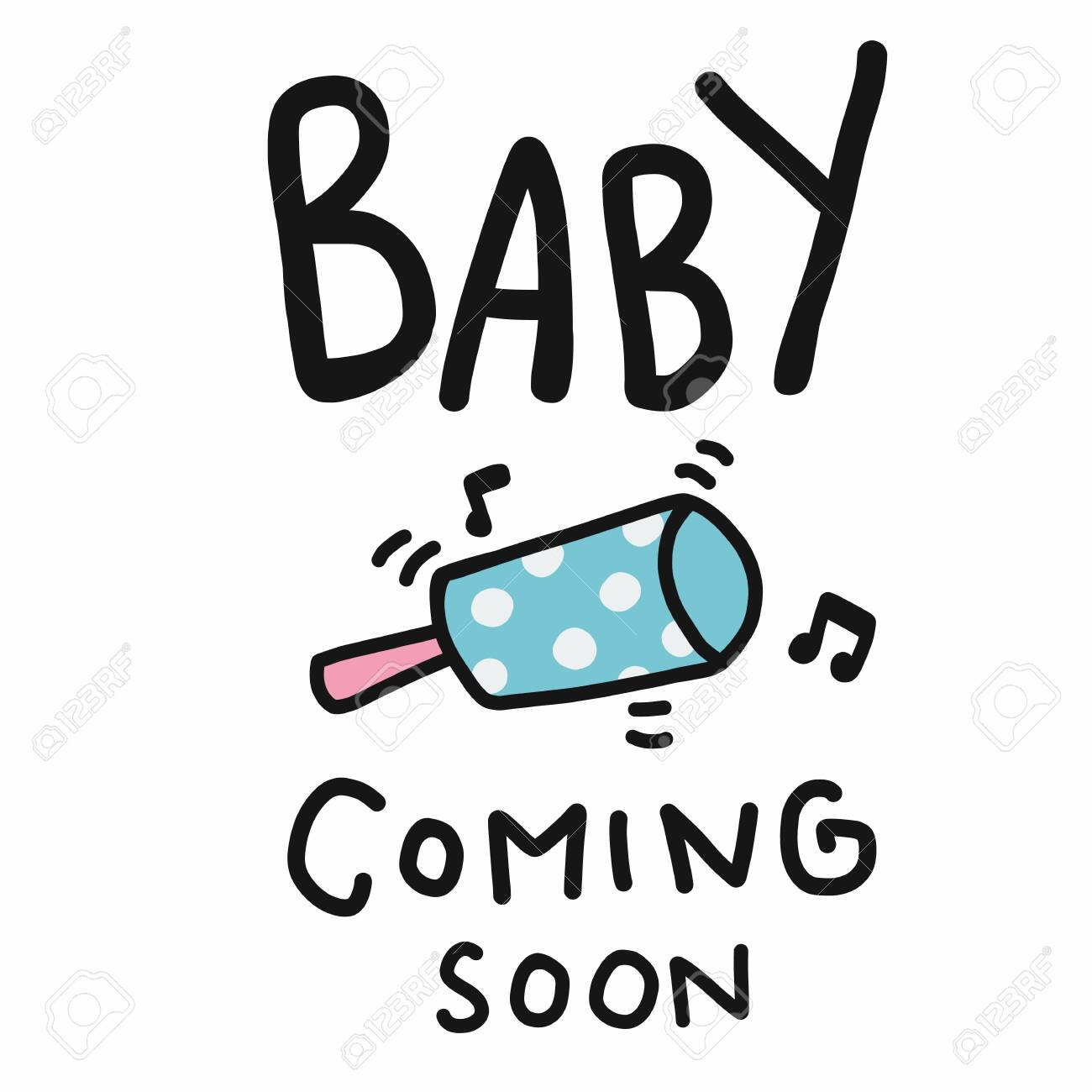 Baby Coming Soon Word Cartoon Vector Illustration Royalty Free Cliparts Vectors And Stock Illustration Image 147798096