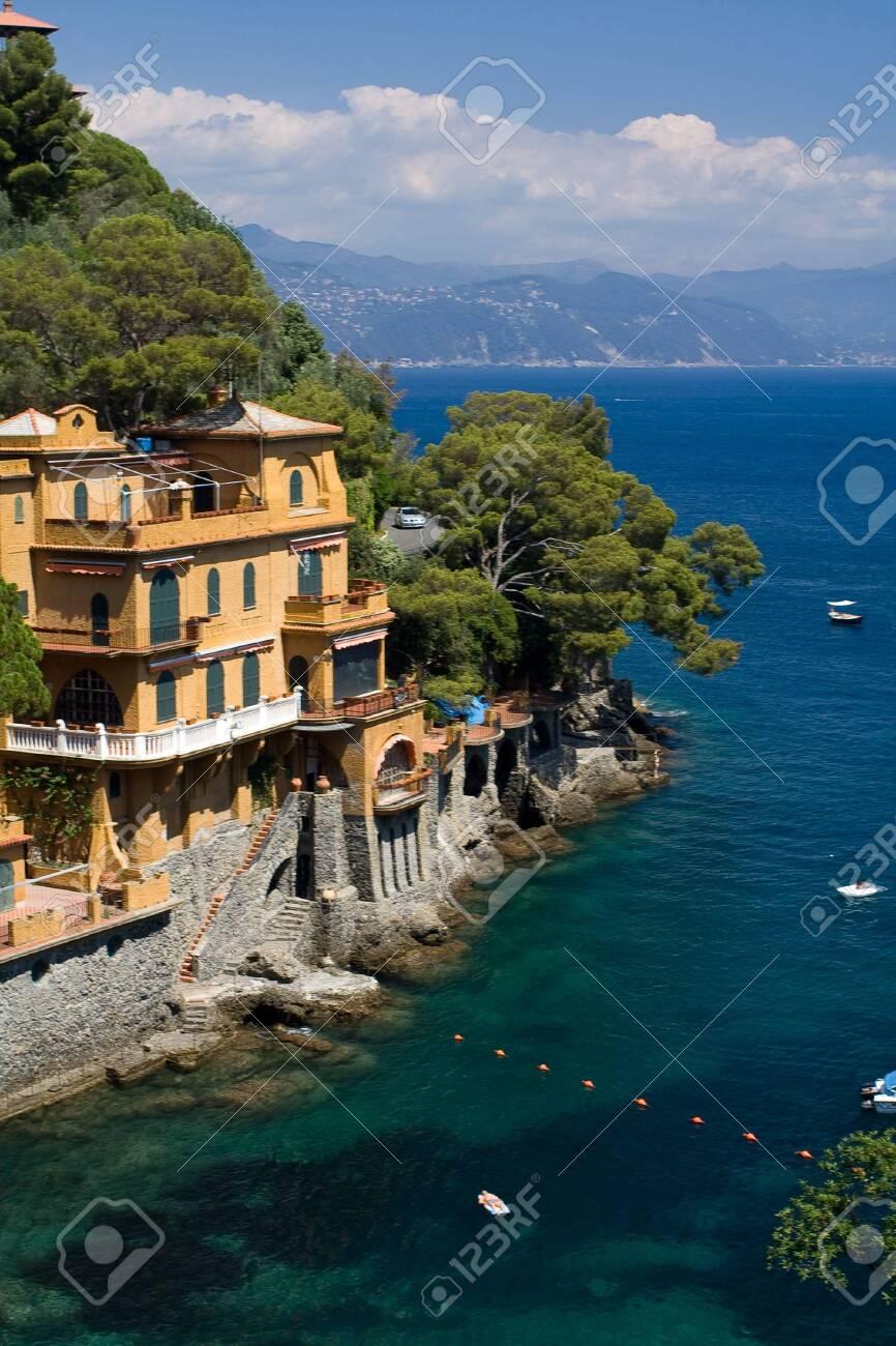 House on a rock, bay - Portofino, Italy - 146752032
