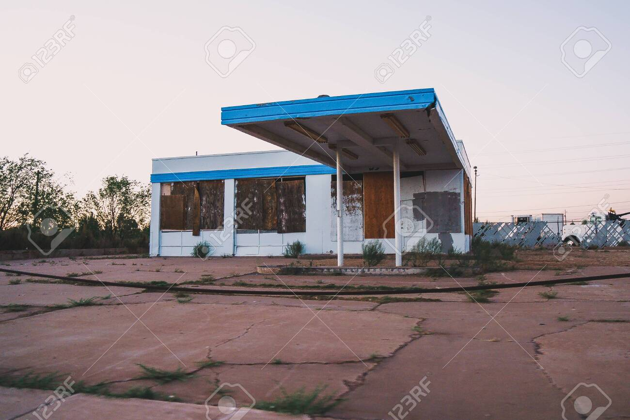 Old Abandoned Building Likely A Gas Station In Holbrook Arizona Stock Photo Picture And Royalty Free Image Image 137660838