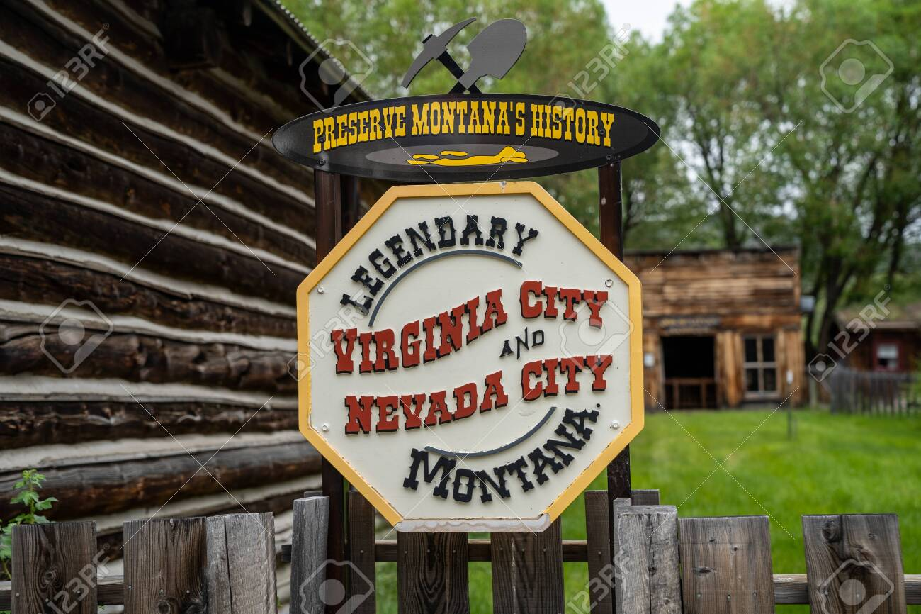 Nevada City Montana June 29 2020 Sign Welcoming Visitors Stock Photo Picture And Royalty Free Image Image 151900390