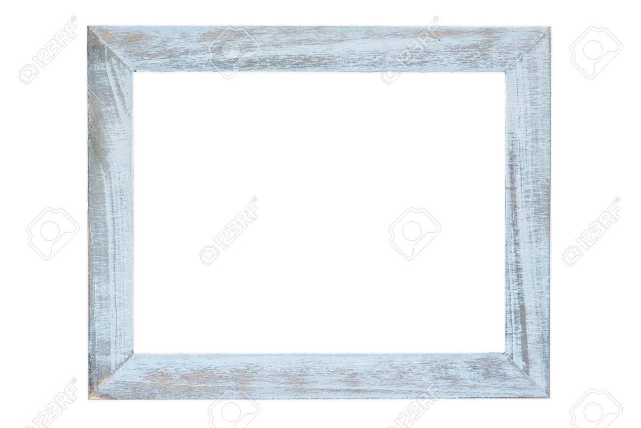 Weiss Holz Bilderrahmen Isoliert Auf Weissen Hintergrund Lizenzfreie