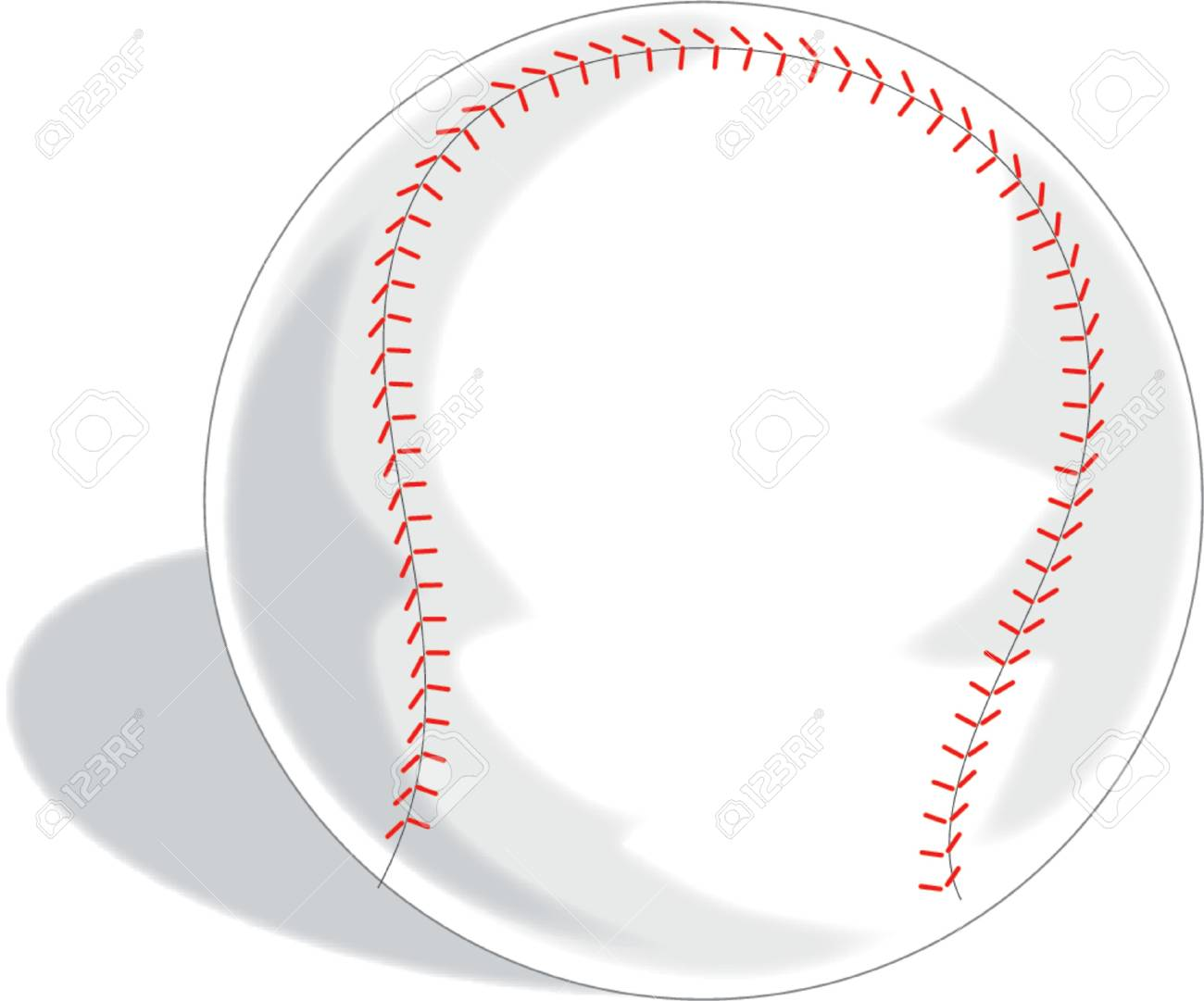 A Single baseball on a white background Stock Vector - 718237