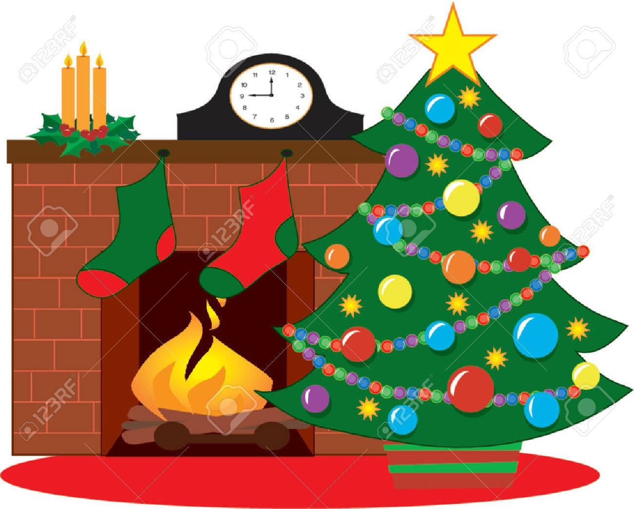 image collection christmas fireplace ornament with stockings all