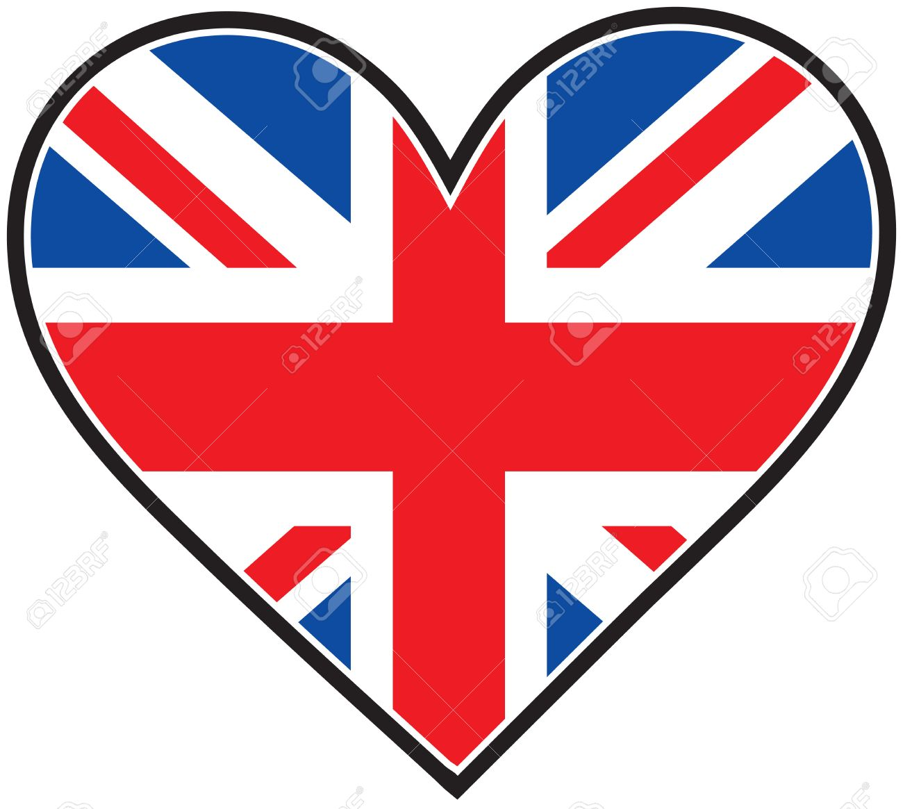 Image result for british flag heart shape
