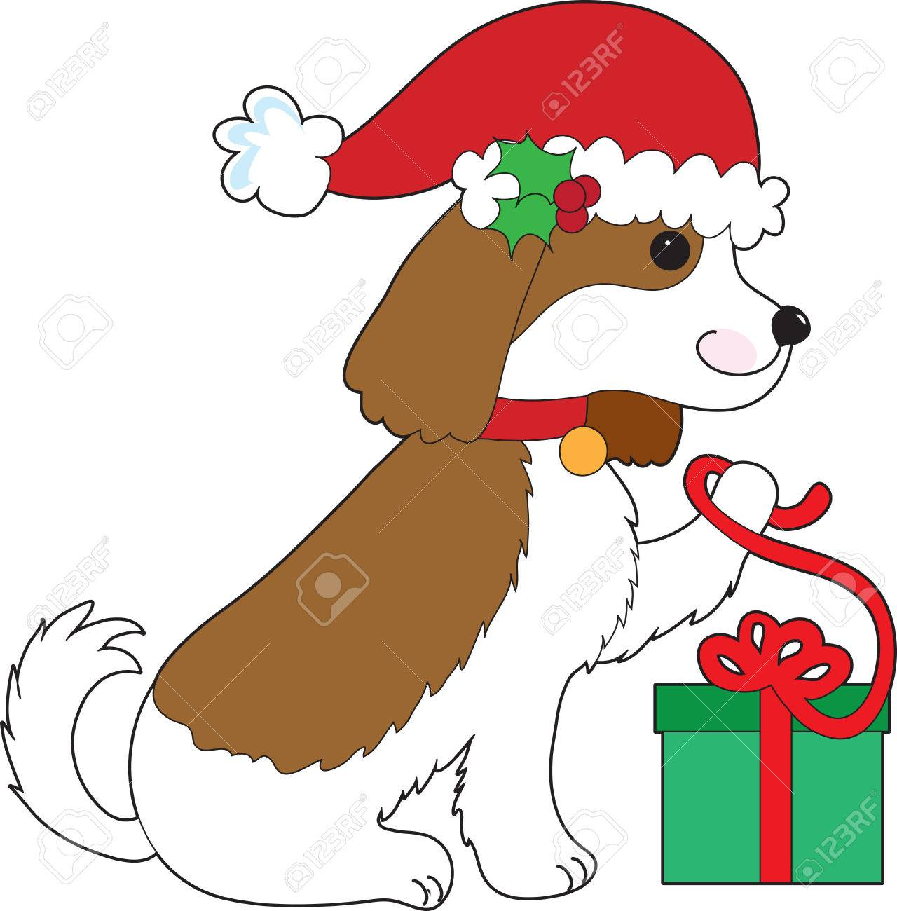 11 875 dog christmas stock illustrations cliparts and royalty free rh 123rf com merry christmas dog clipart merry christmas dog clipart