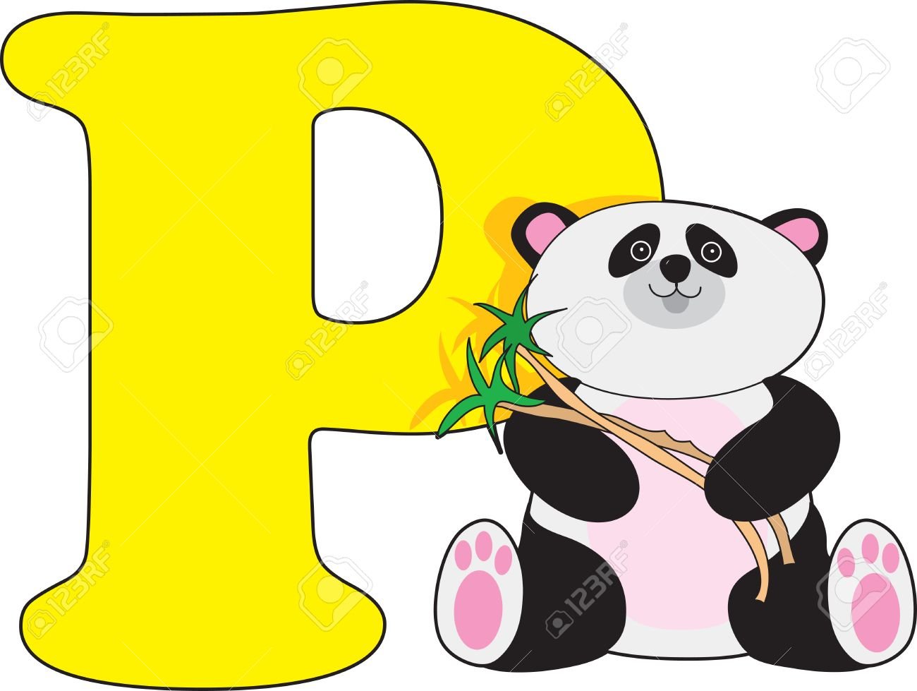 Letter P With A Panda Royalty Free Cliparts, Vectors, And Stock ...