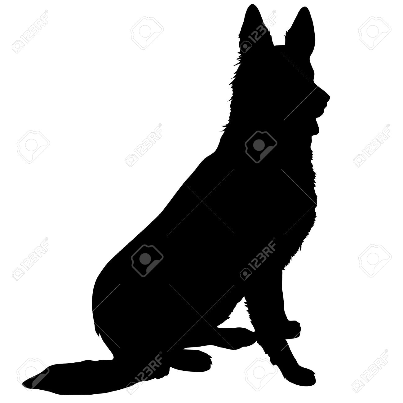 2,349 German Shepherd Stock Illustrations, Cliparts And Royalty ...