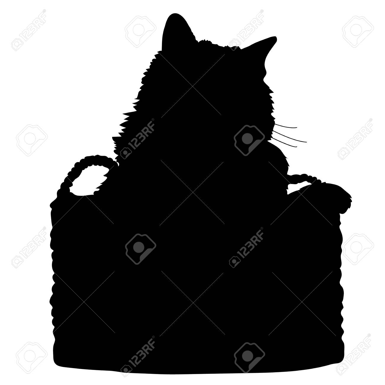 A black silhouette of a cat - 41855406