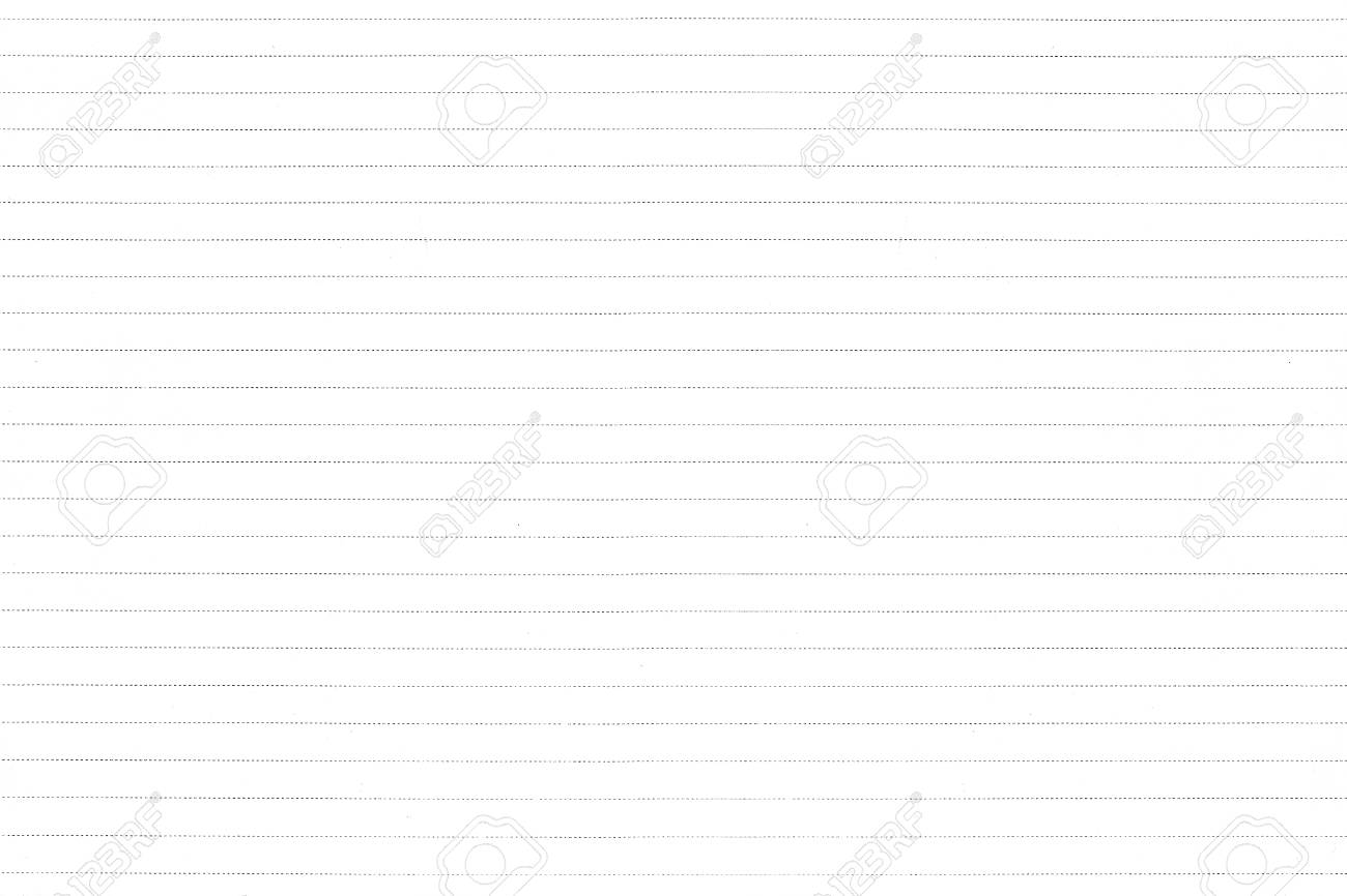 White Lined Paper Texture Background