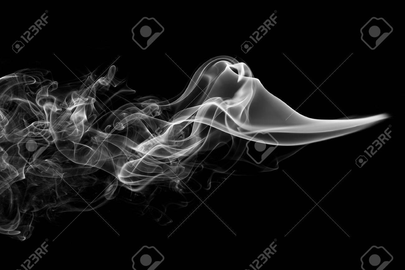 抽象的な煙黒背景 ロイヤリティ...