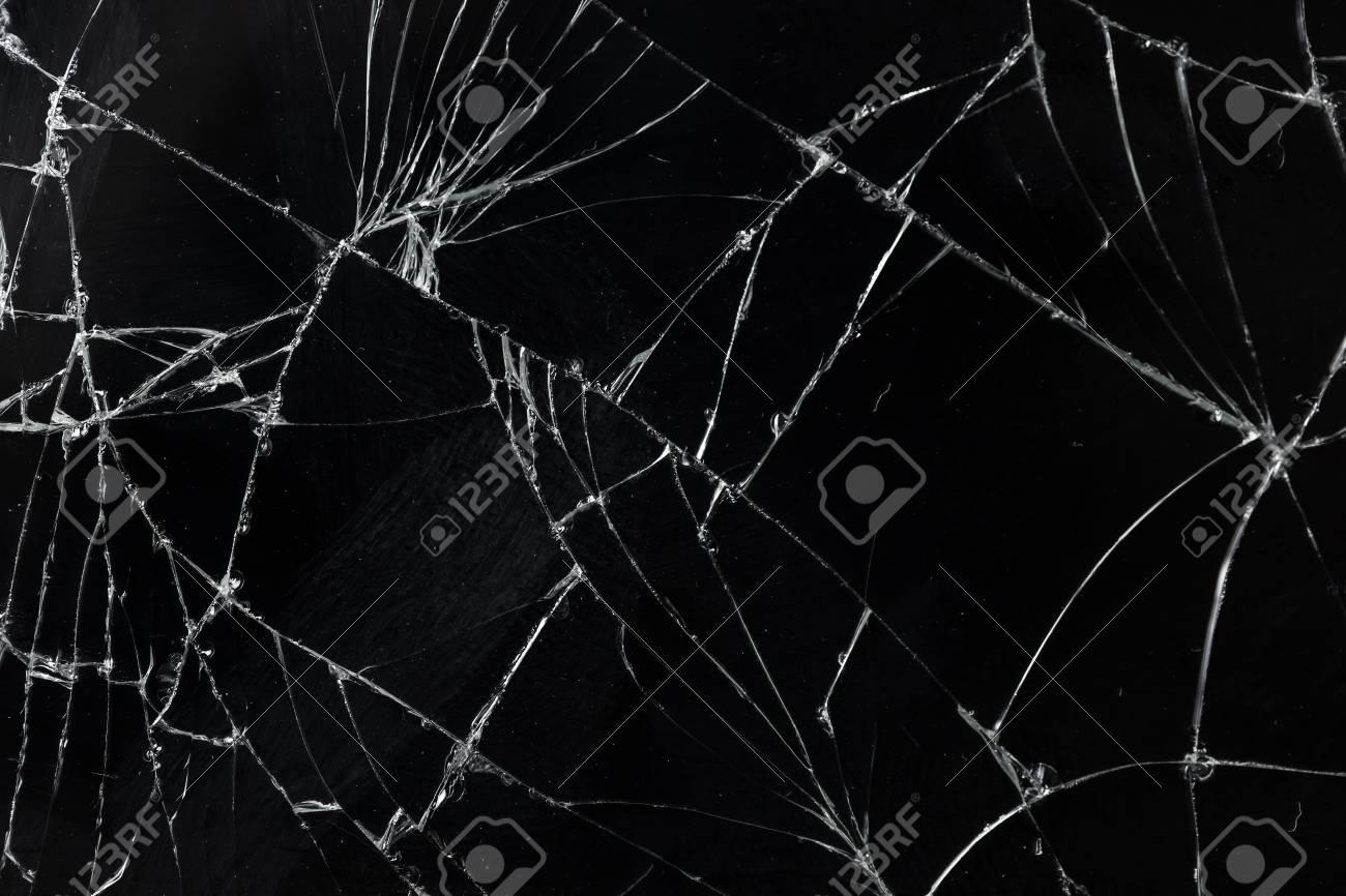 Top view cracked broken mobile screen glass texture background. - 84159285