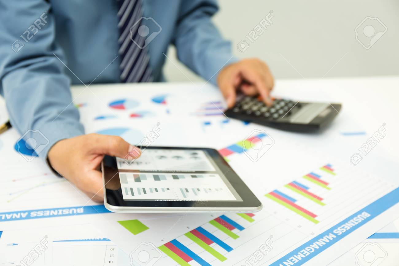 Loan flat icons set with check balance personal income tax.