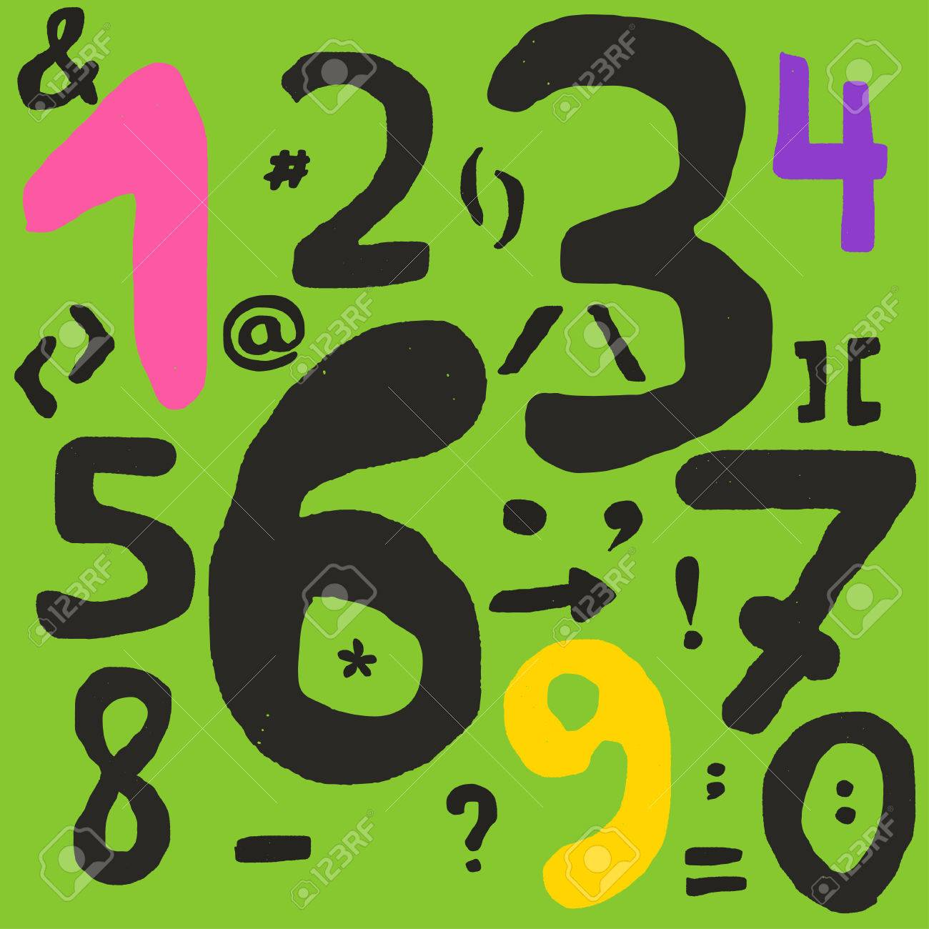 Hand drawn numbers and math symbols with inaccurate lines fill hand drawn numbers and math symbols with inaccurate lines fill of symbols has tiny holes biocorpaavc Choice Image
