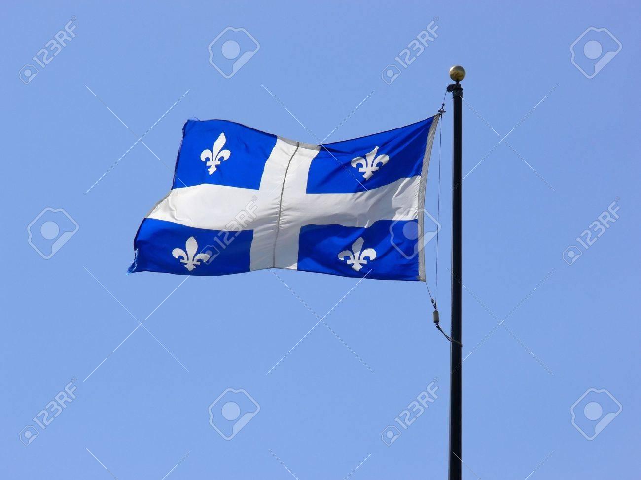 The Fleur-de-Lys flag of Quebec. - 502335