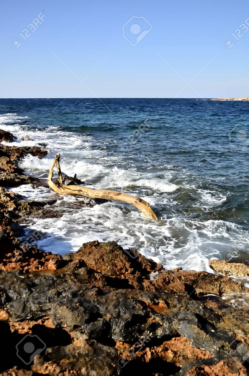 Rocky coast of the island of Ibiza Stock Photo - 18131251