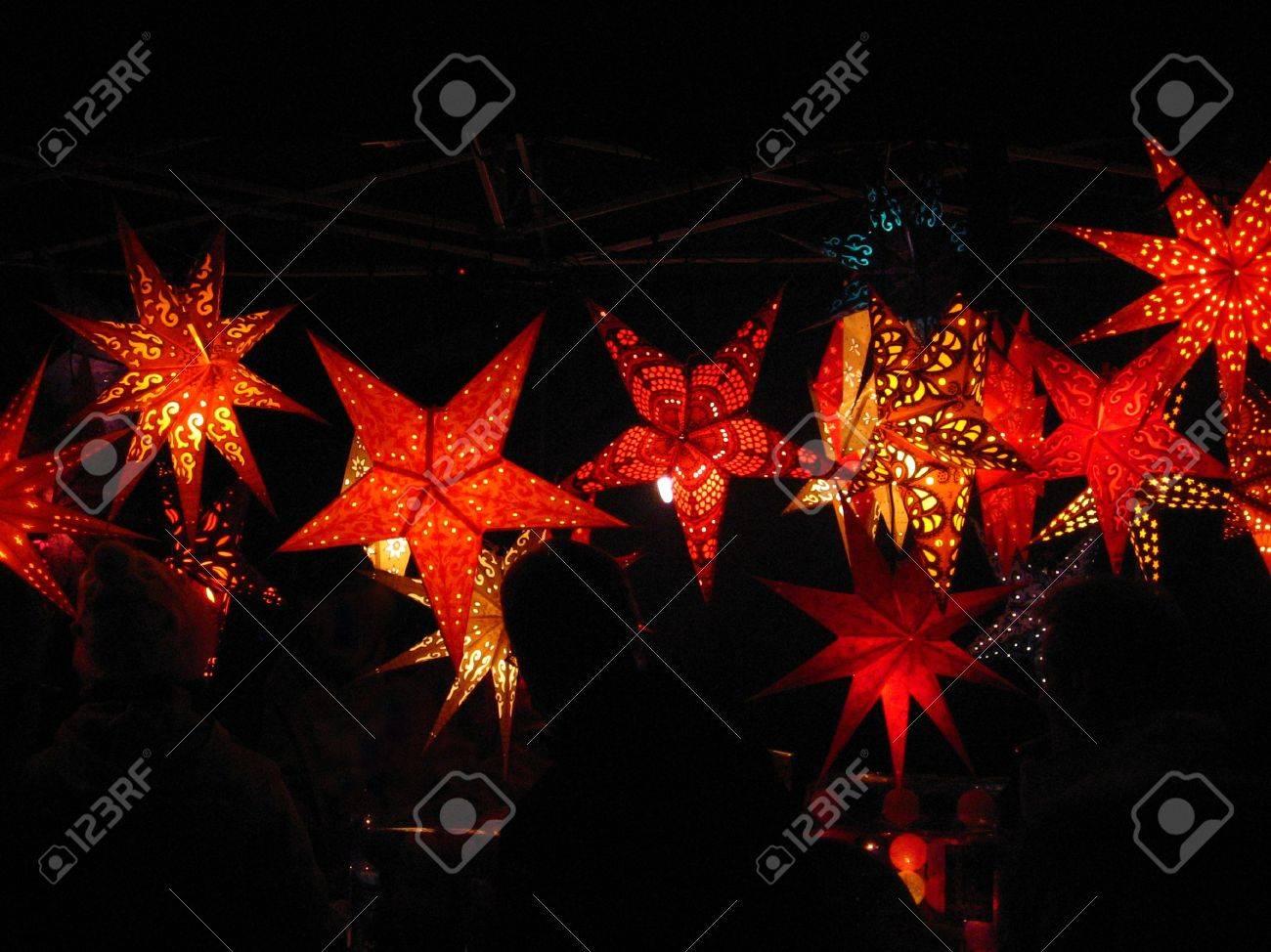 Beleuchtete Bilder Weihnachten.Stock Photo