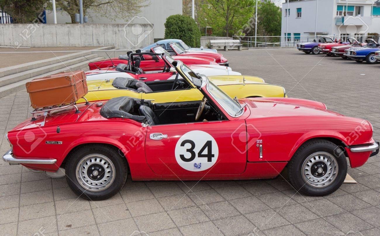 Mutschellen Switzerland April 29 Vintage Race Car Triumph Spitfire