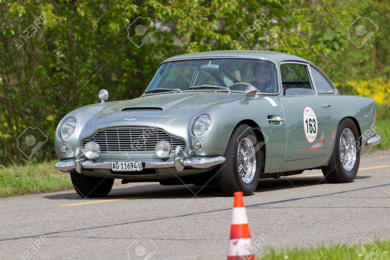 Mutschellen Switzerland April 29 Vintage Race Touring Car Aston Stock Photo Picture And Royalty Free Image Image 14986327