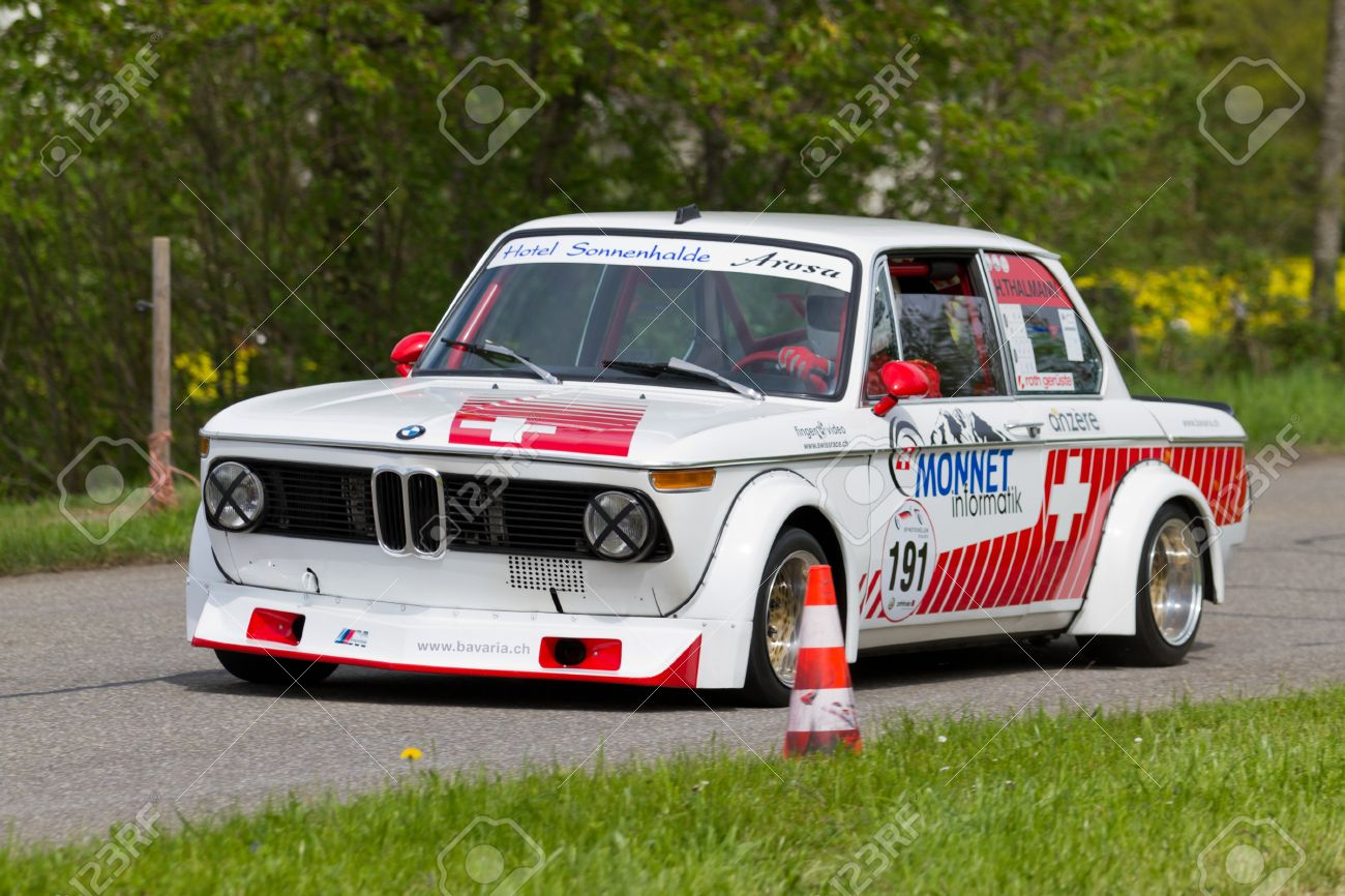 Bmw 2002 Tii Race Car >> Mutschellen Switzerland April 29 Vintage Race Touring Car Bmw