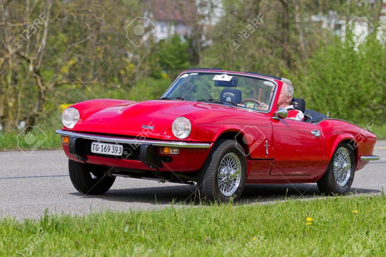 Mutschellen Switzerland April 29 Vintage Race Touring Car Triumph