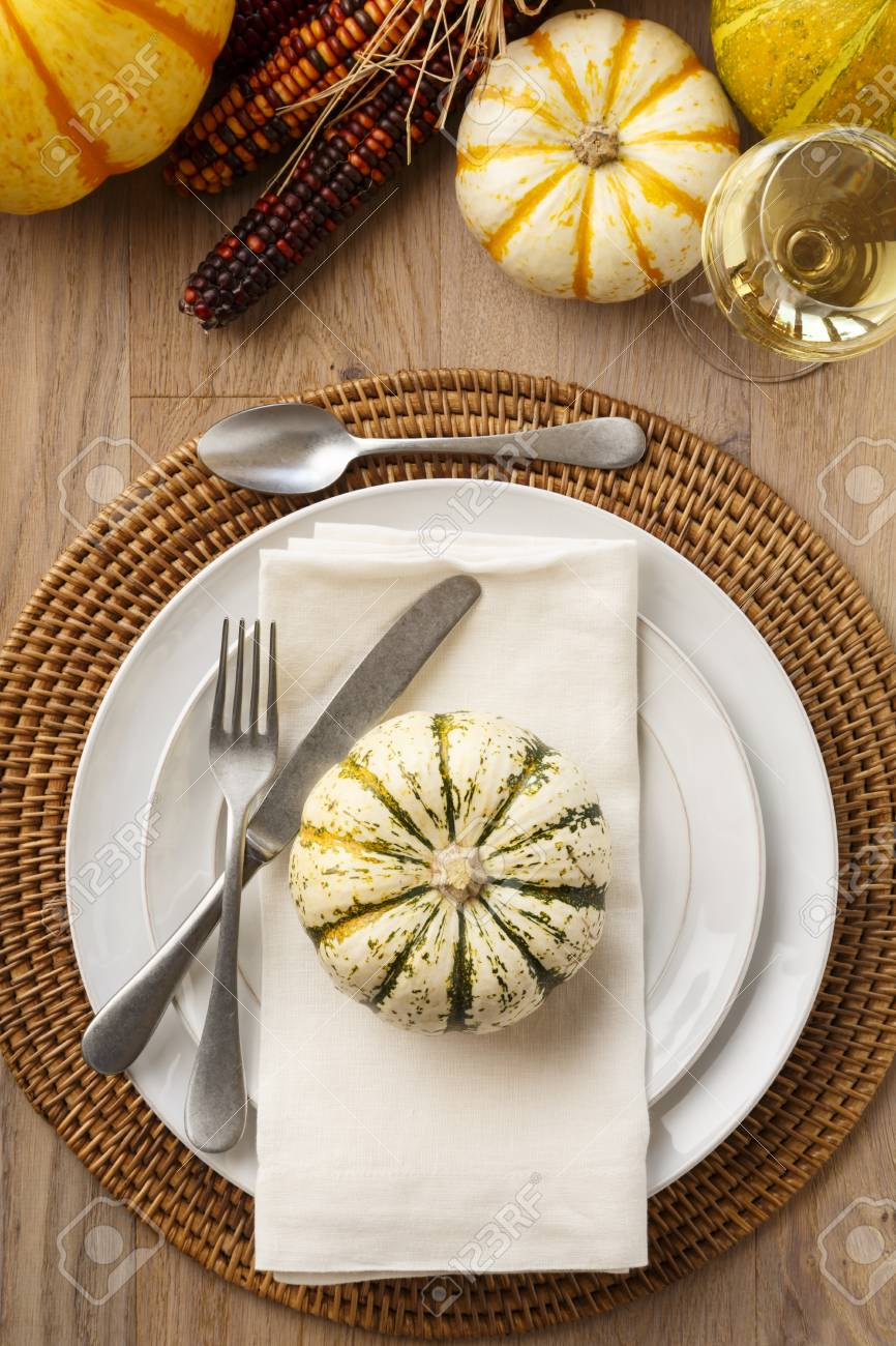 Festive Fall Thanksgiving Table Setting Place Setting Home Decorations