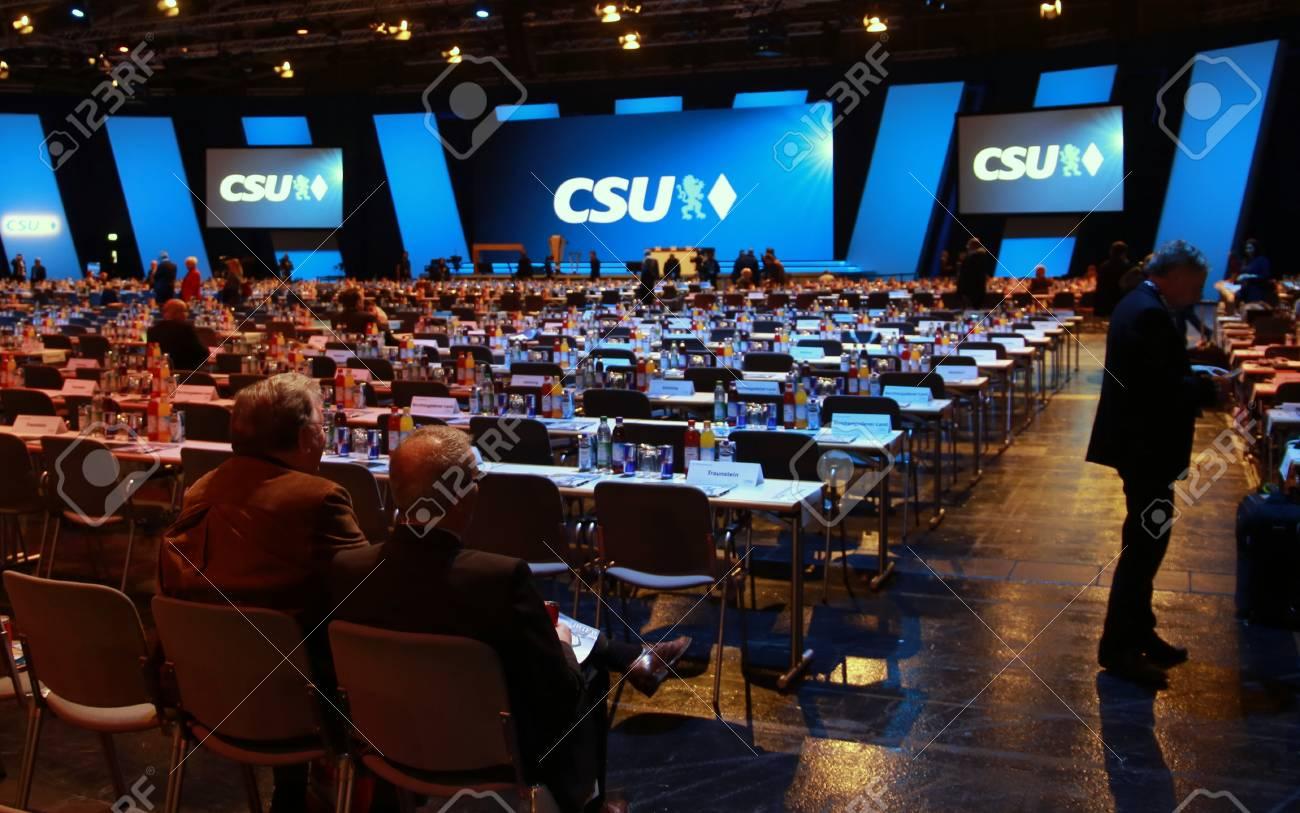 November 4, 2016 - Munich, Germany - CSU party convention: delegates' seats Standard-Bild - 86462158