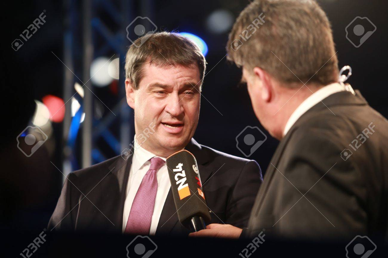 November 4, 2016 - Munich, Germany - CSU party convention: Markus Soeder, Minister of Finance and Home of Bavaria Standard-Bild - 86462166