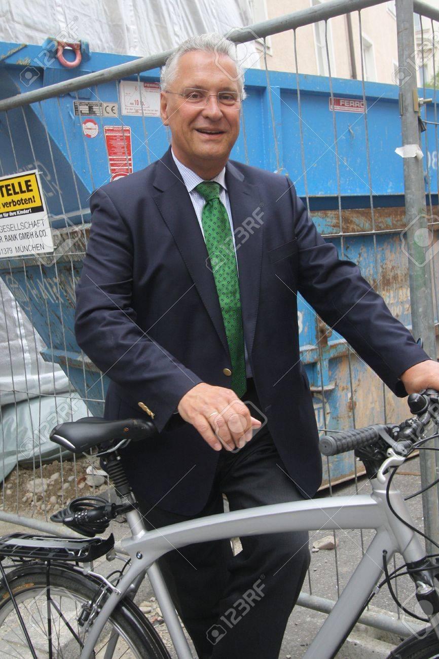 September 4, 2012 - Munich, Germany - Bavarian Minister of the Interior Joachim Herrmann, CSU, after a meeting with the press, Standard-Bild - 86777645