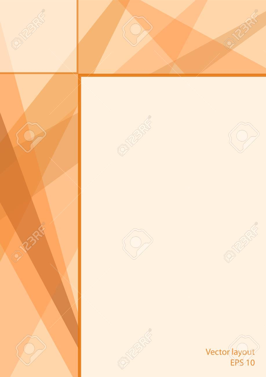 Light orange background template