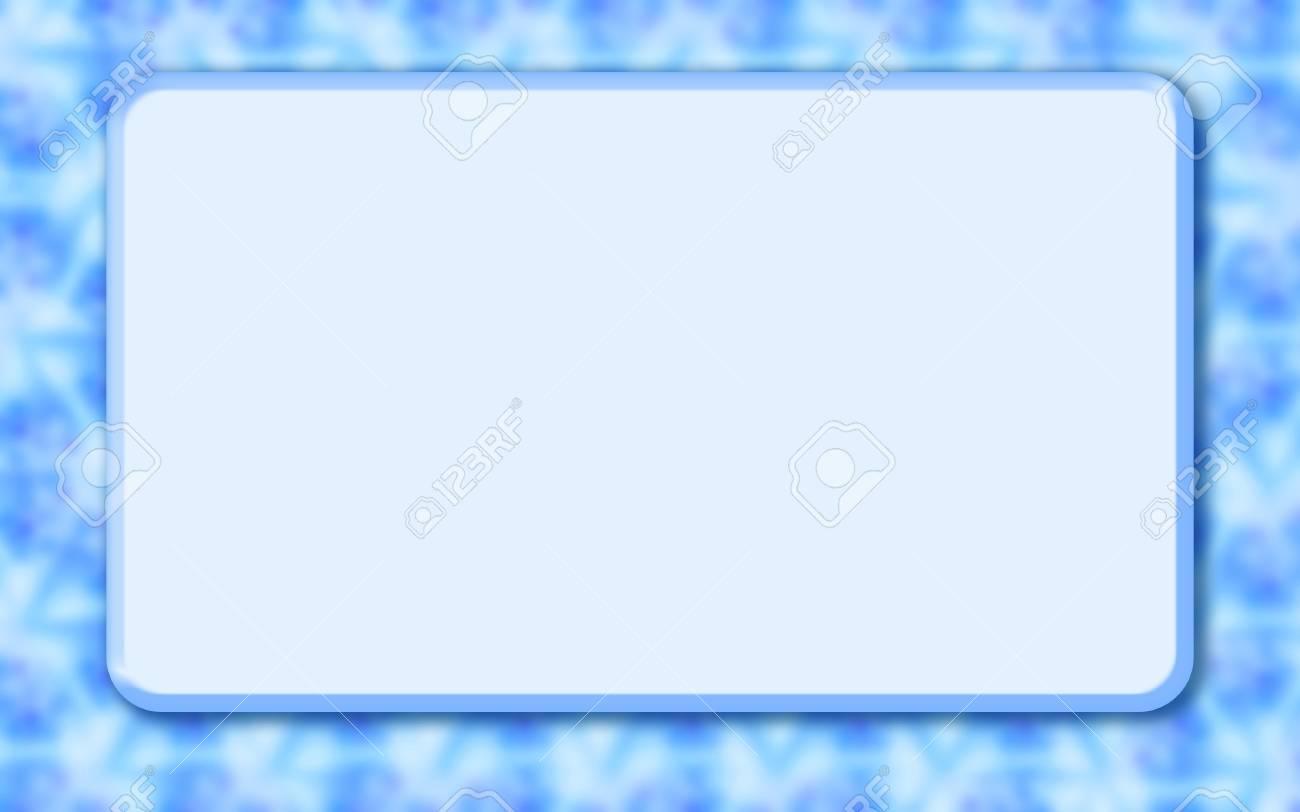 Plantilla Maqueta Azul Con Cuadro De Texto Rectangular Grande. Borde ...