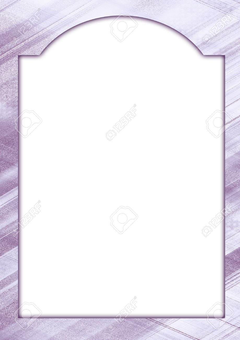 Mock Up Frame In Violet And White Tones. Stylish Border, Creative ...