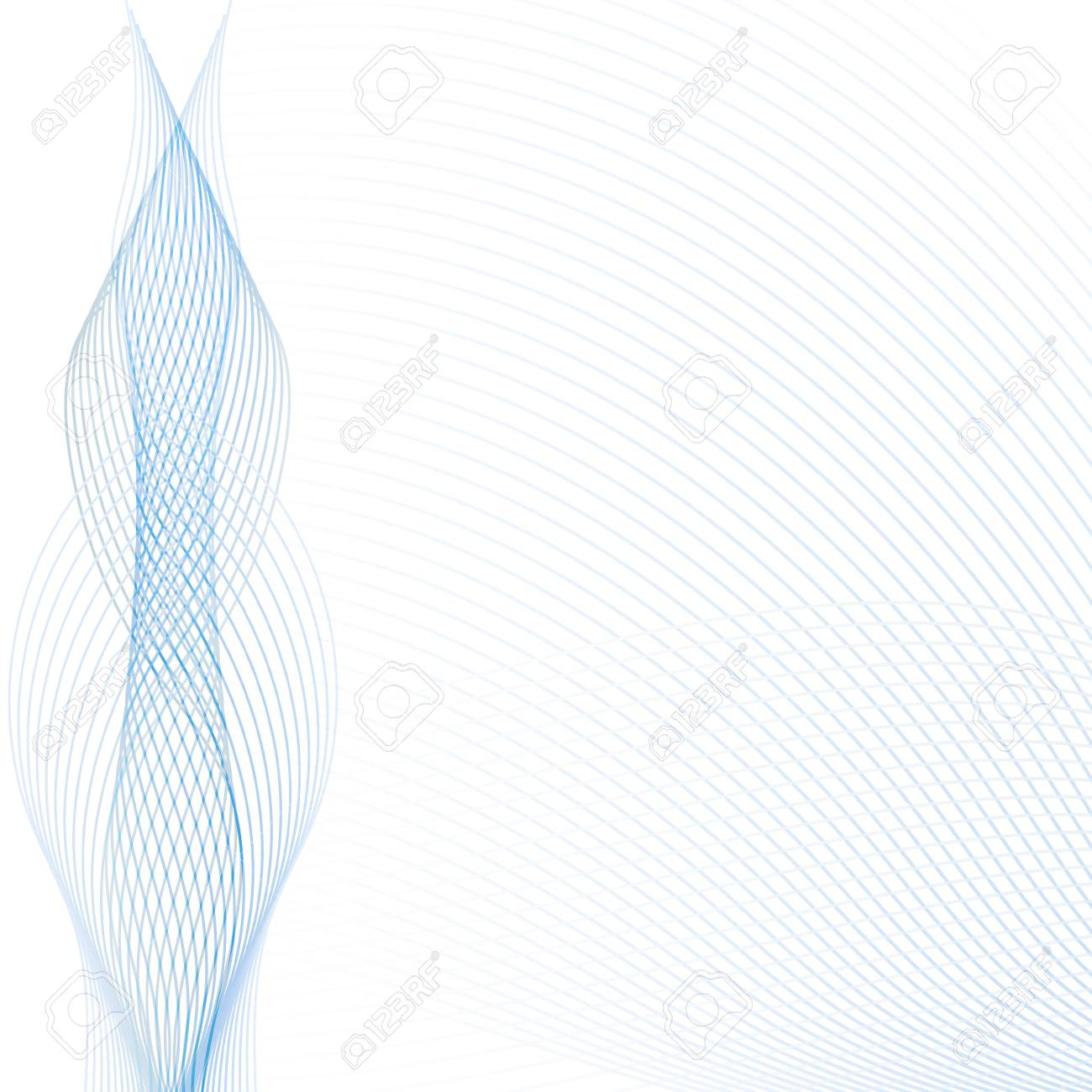 abstract wave background with transparent blue and gray lines