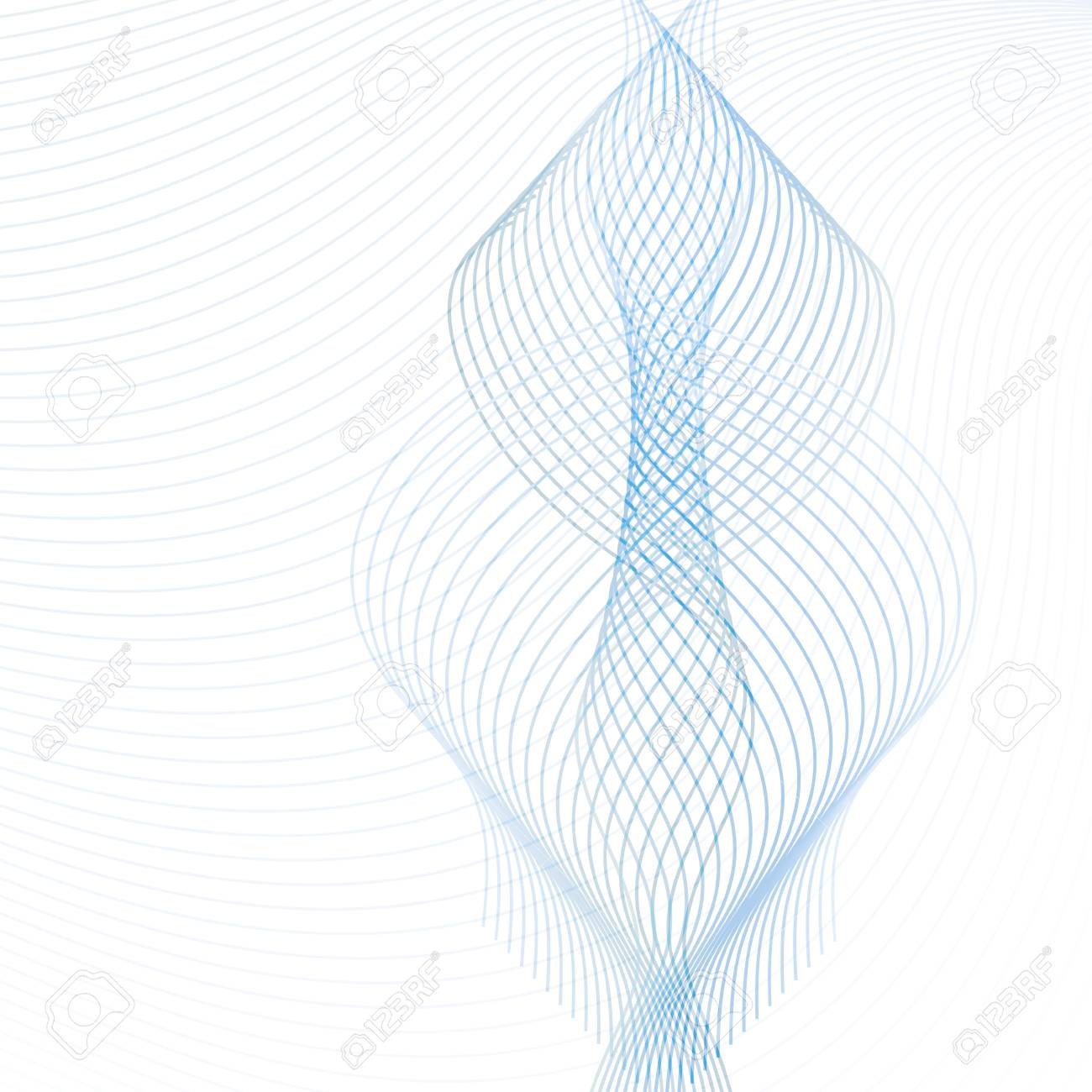 Ornamental design element. Abstract vector with transparent blue and gray waving lines. Technology futuristic template, for websites, presentations, brochures - 108303531
