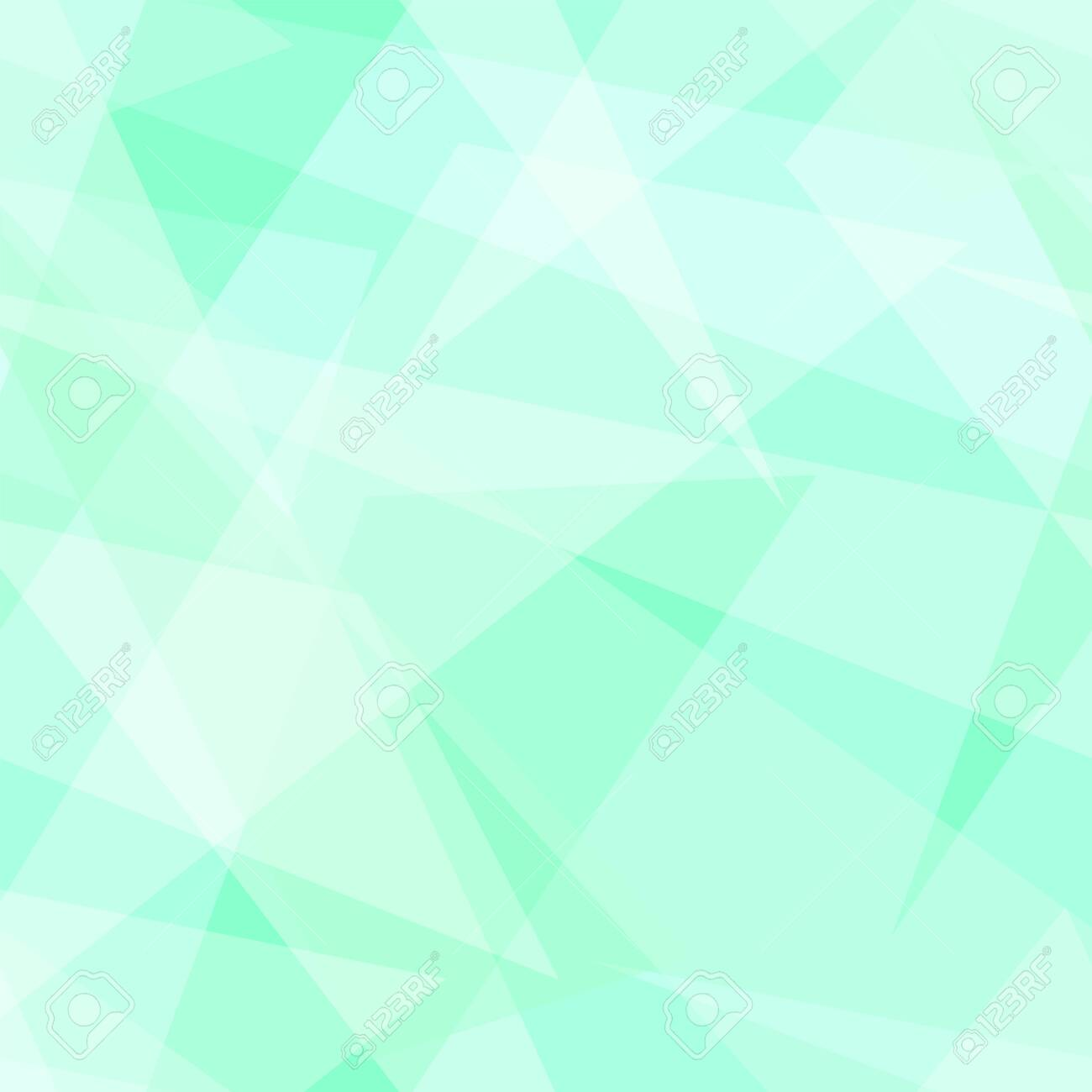 Light green, white transparent triangle shapes. Vector rapport for seamless pattern. Geometric background. Stylized stained glass. Abstract design for wallpaper, wrapping paper, websites. EPS10 illustration - 156255456