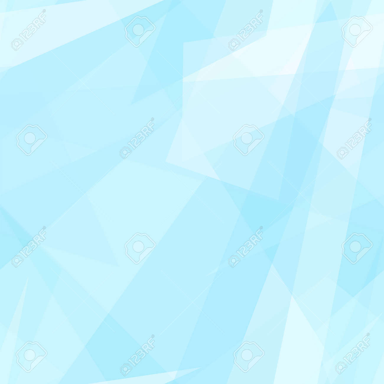 Pastel blue, white transparent triangle shapes. Vector rapport for seamless pattern. Geometric background. Stylized stained glass. Abstract design for wallpaper, wrapping paper, websites. EPS10 illustration - 156255458
