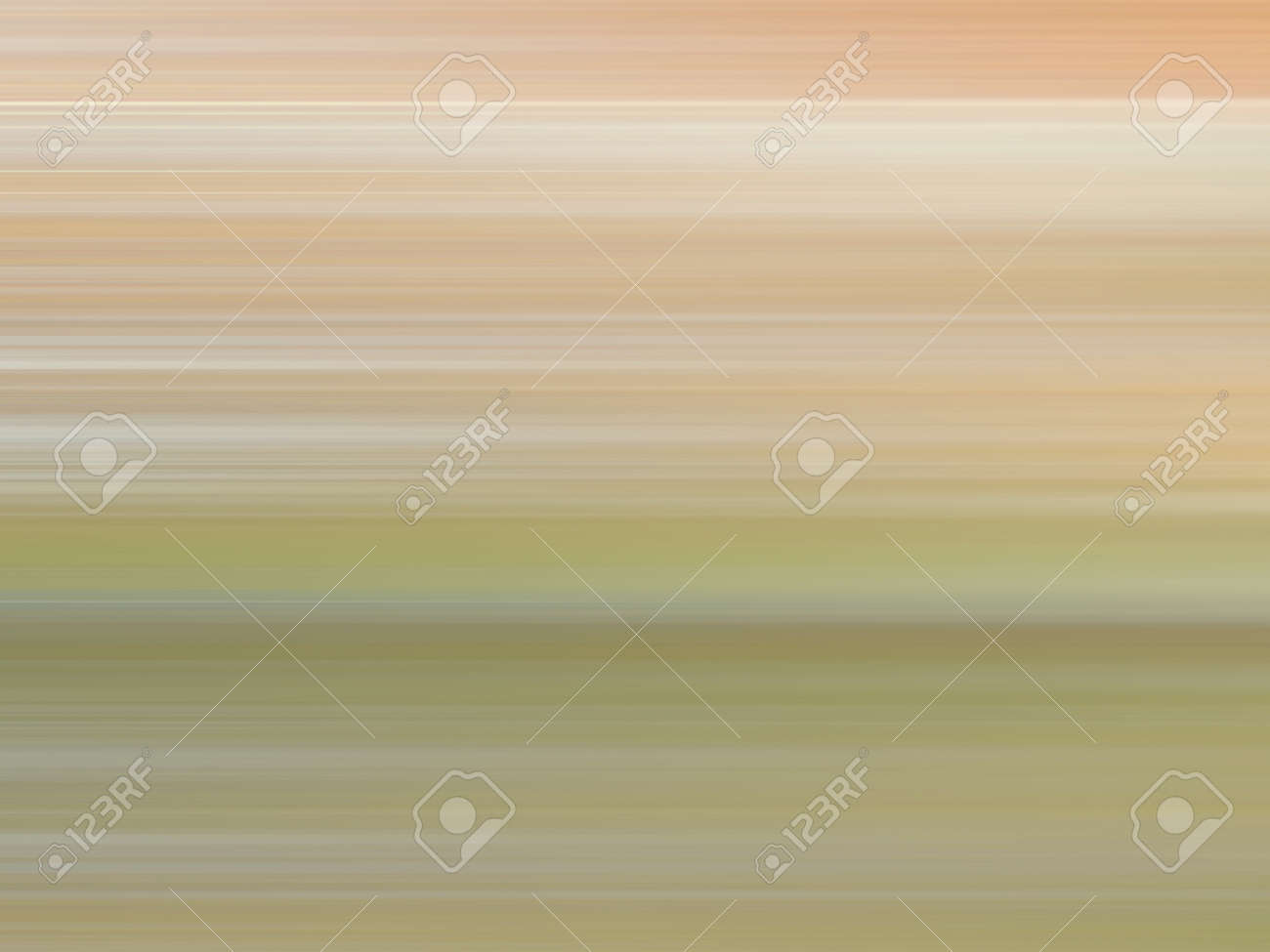 Light brown, beige, green, white speed lines. Multicolored smooth gradient. Ground and grass concept. Abstract background with blurred strips. Defocused texture. Modern design - 167930223