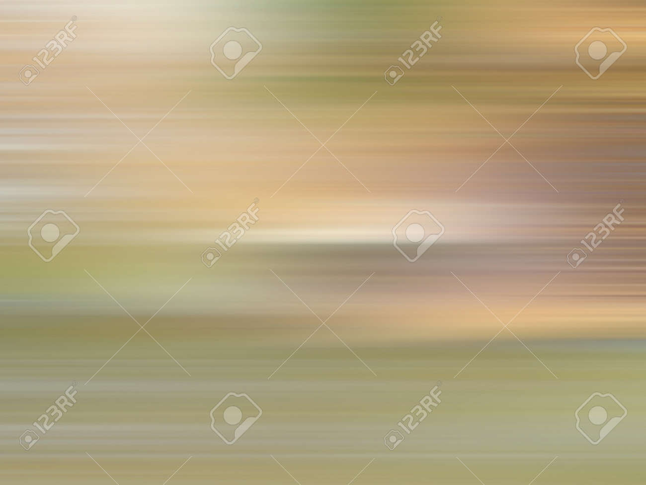 Soft brown, beige, green blurred strips. Multicolored smooth gradient. Ground and grass concept. Speed lines. Defocused background. Abstract design. Textured surface - 168809988