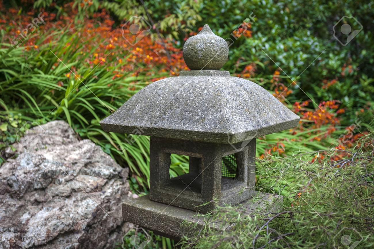 Pagoda In A Japanese Garden Located In San Franciscou0027s Golden Gate Park.  Stock Photo