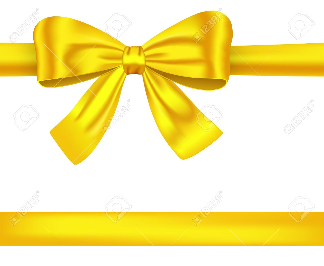 Golden satin gift ribbons with luxurious bow for decorations golden satin gift ribbons with luxurious bow for decorations illustration stock vector 12367906 negle Image collections