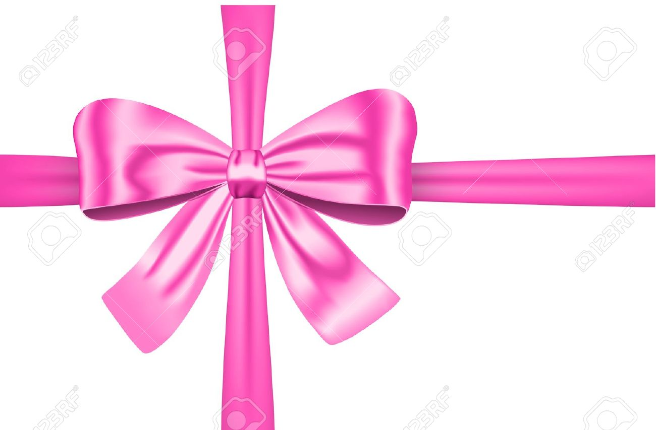 Nice pink ribbon with bow for gift, cards and decorations. Stock Vector - 12788563