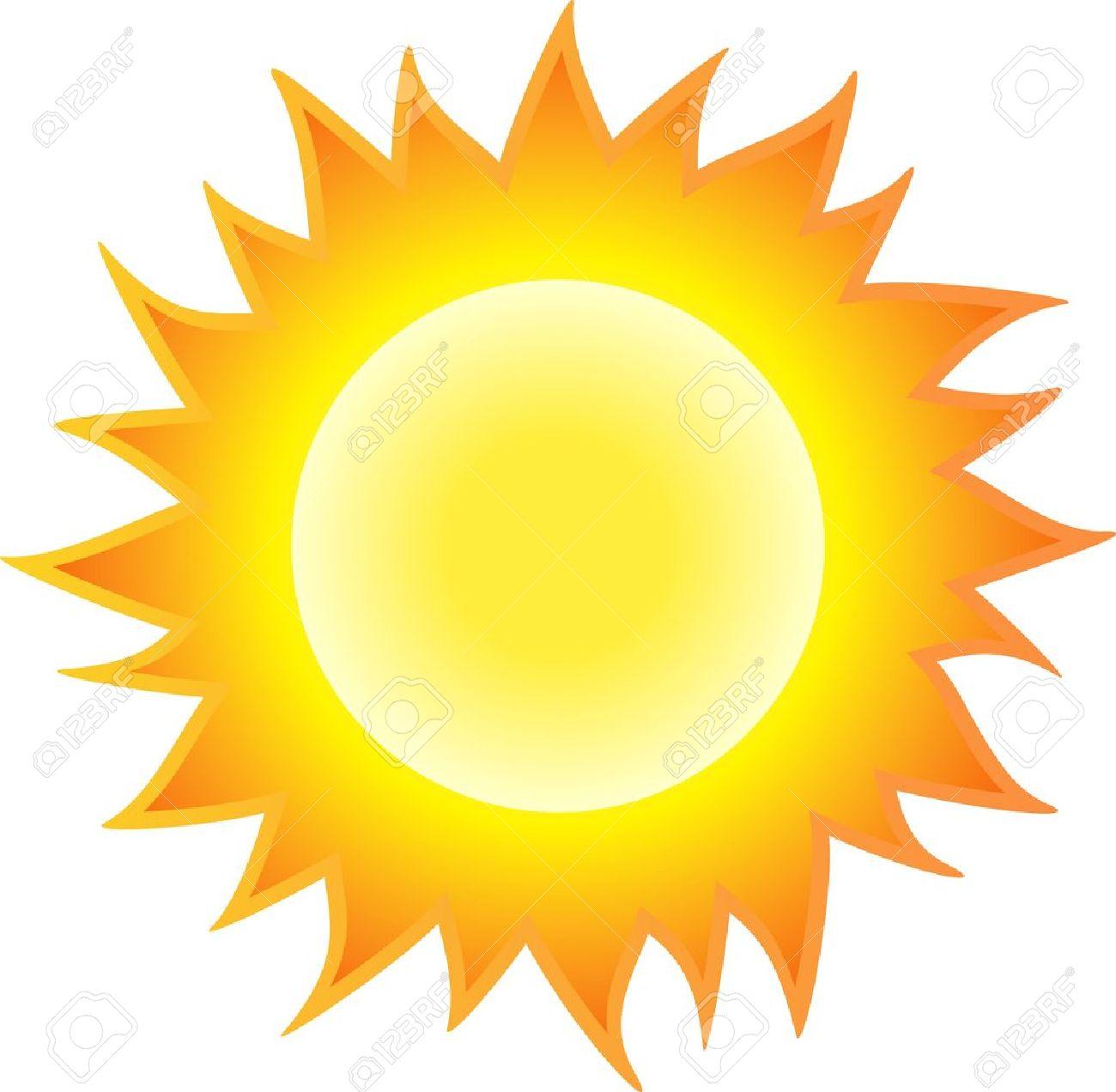 The sun burning like flame. Isolated on white background. - 14243464