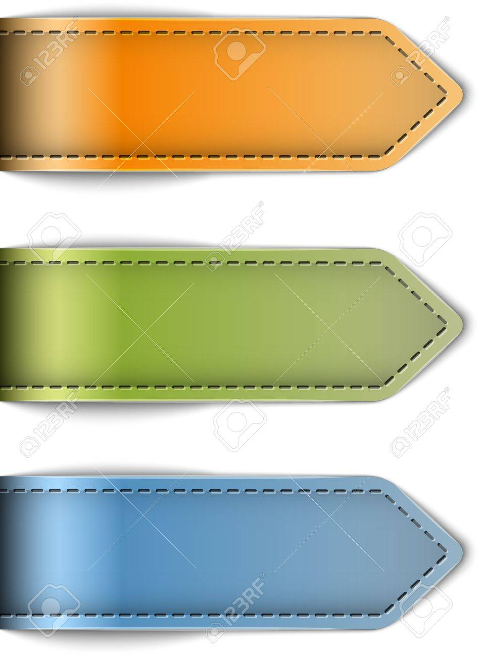 Tag Labels Made Of Leather. Arrows. Design Templates. Vector ...