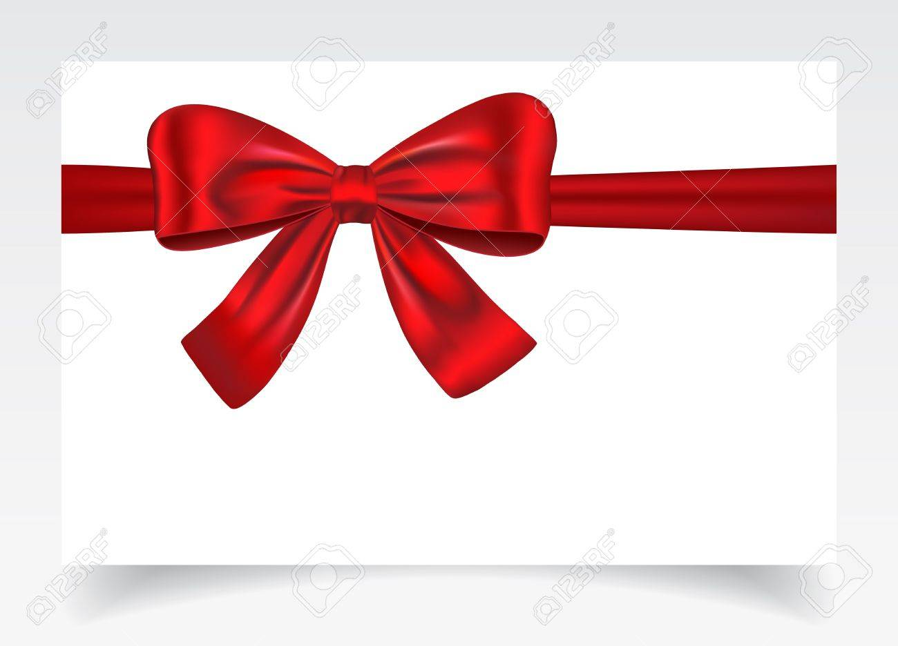 Nice gift card with red ribbon and bow vector illustration nice gift card with red ribbon and bow vector illustration 20245276 negle Choice Image