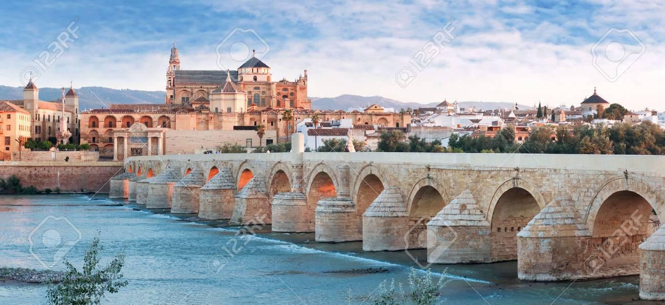 Roman Bridge and Guadalquivir river, Great Mosque, Cordoba, Spain - 23386674