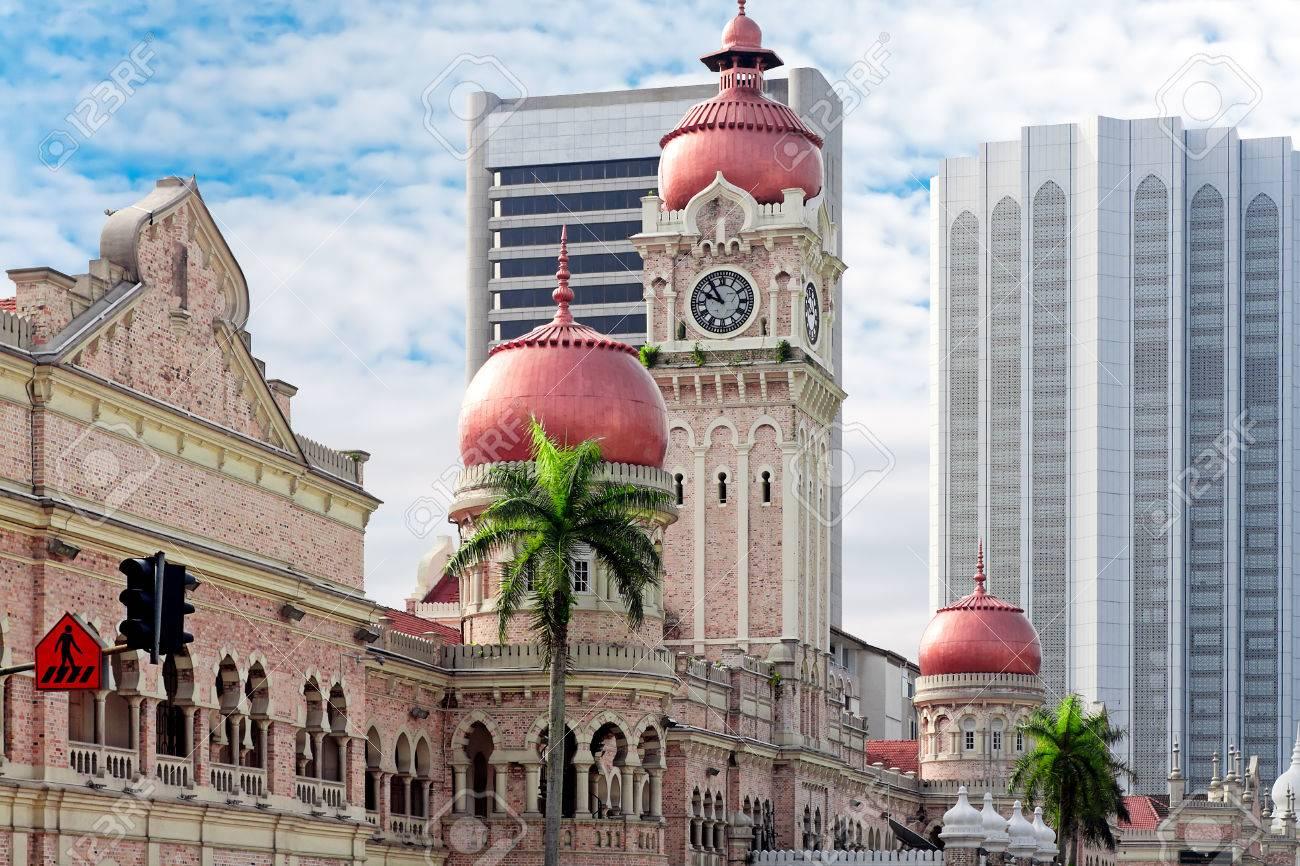 Clock tower of Sultan Abdul Samad. Kuala Lumpur, Malaysia - 28893645