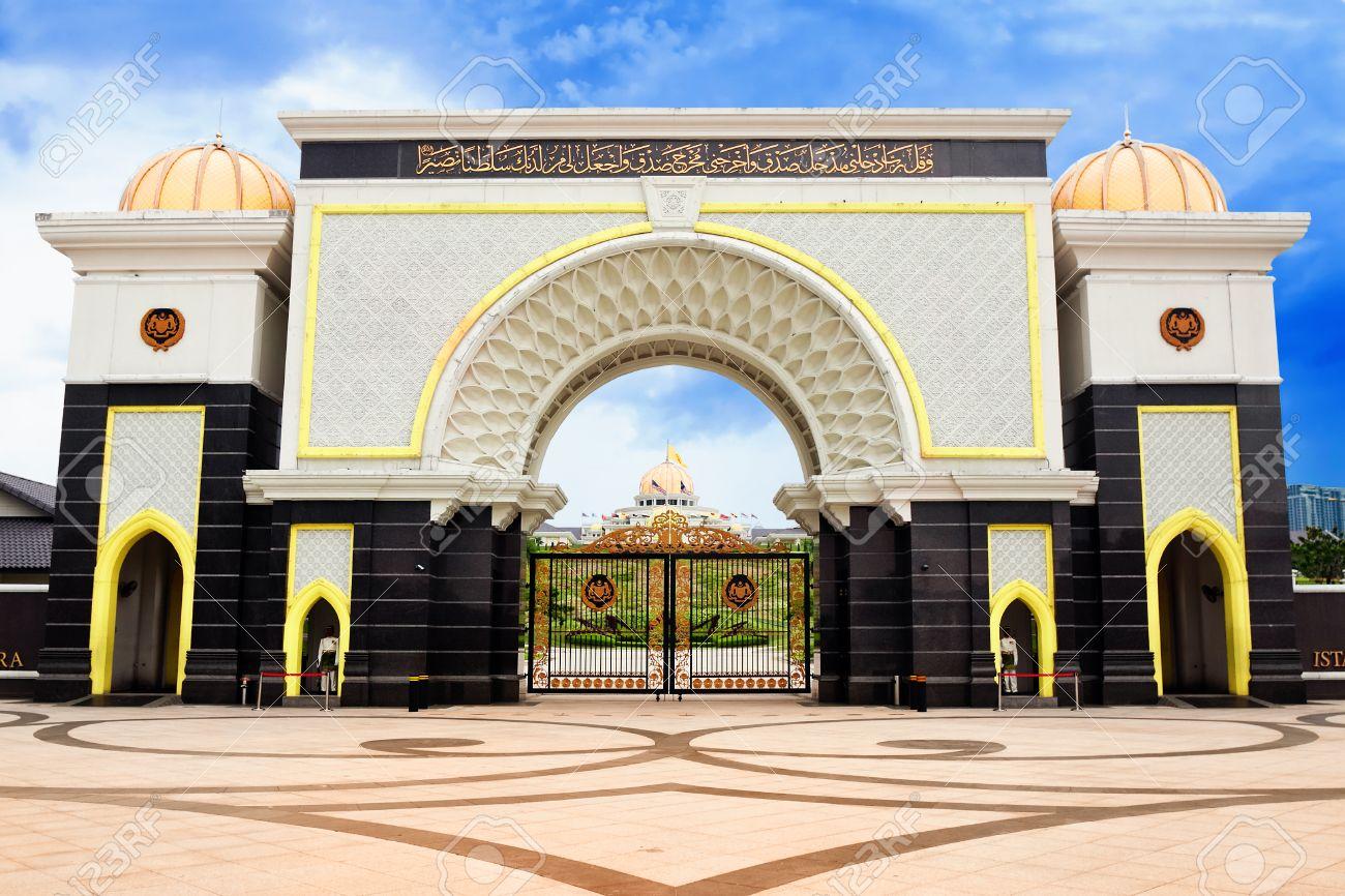 gate of royal palace istana negara kuala lumpur malaysia stock