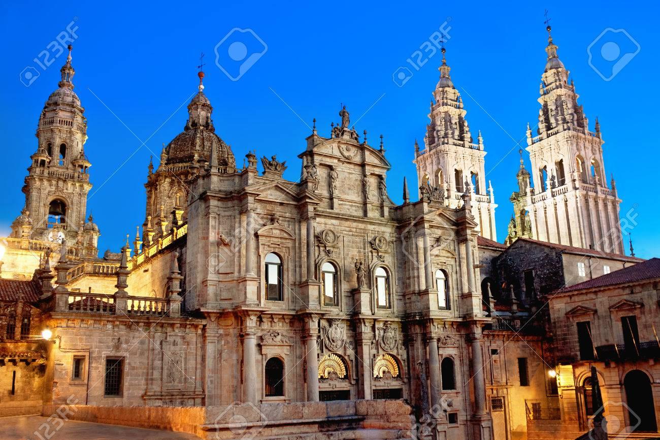 Cathedral of Santiago de Compostela. Galicia, Spain - 47635805