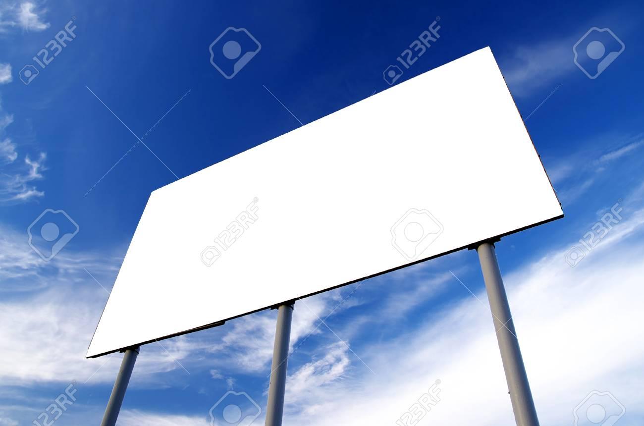 Blank billboard and cloudy sky Stock Photo - 1727603